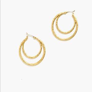 Madewell Hammered Double Hoop Earrings